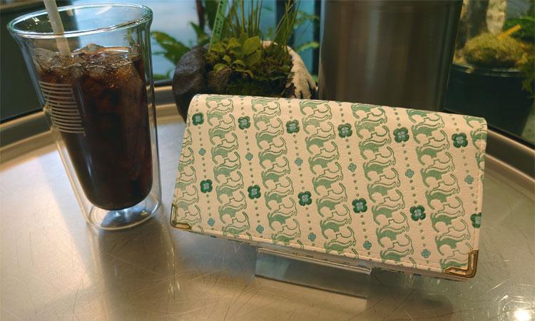 姫革細工 × Herbette コラボ オリジナル猫柄 がまぐち 長財布