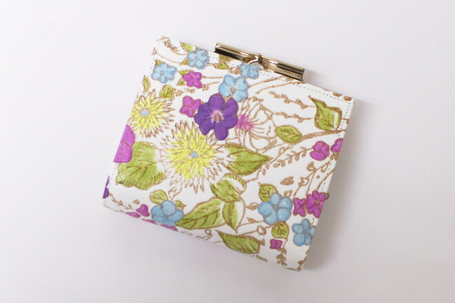 姫革細工,がま札,二つ折り財布