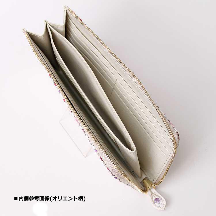 「浅草文庫」 L字ファスナー 長財布 ふくろう 柄 オリジナル根付セット