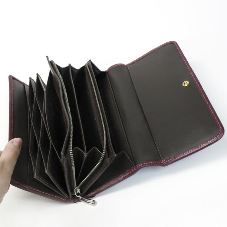 カウ,レザー,財布,ウォレット,長財布,ギフト,プレゼント,本革,パープル,