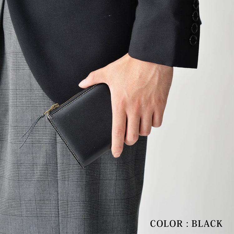 Lusso 本革 L字ファスナー コンパクト財布 コインケース