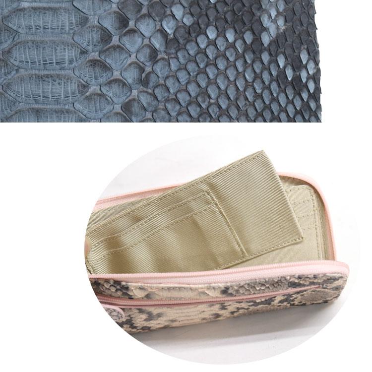 ダイヤモンドパイソン,本革,財布,ヘビ革