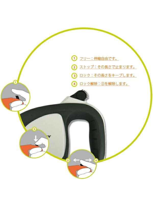 イタリア ferplast社製 伸縮リード フリッピーテック L テープタイプ 5m ~Flippy Tech L tape~