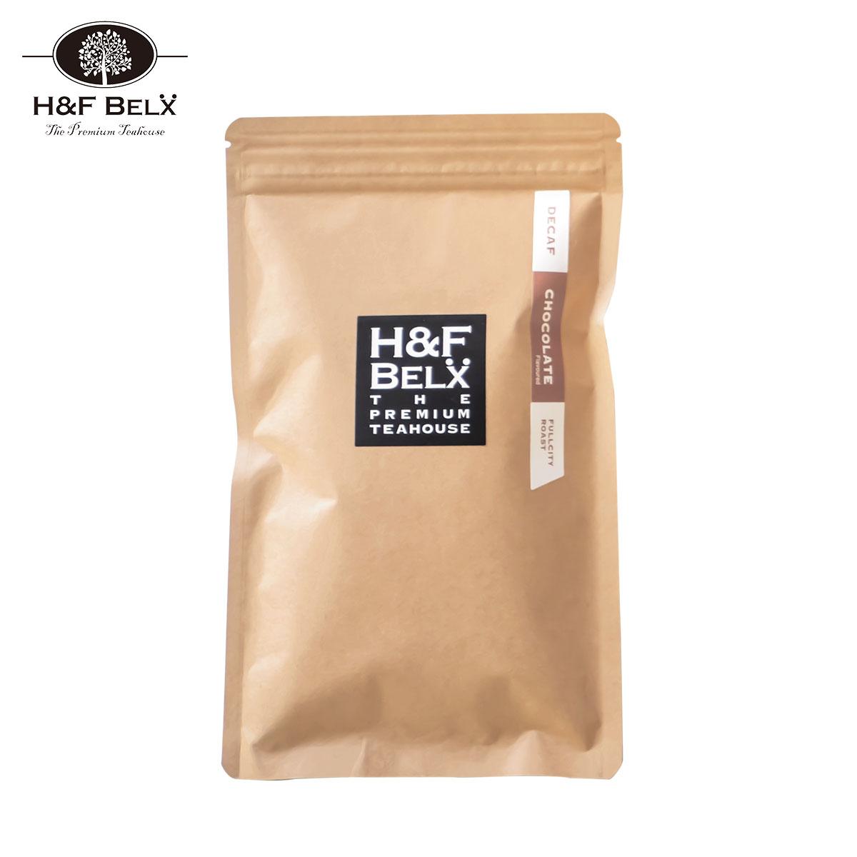 カフェイン0.00gデカフェコーヒーチョコレートフレーバー|甘くほろ苦い、チョコレートの香りが付いたデカフェコーヒー。フルシティーローストでカフェオレにしても相性抜群。