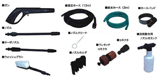 東芝高圧洗浄機HP-400G標準付属品