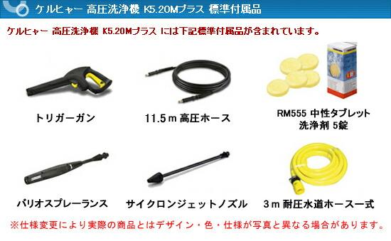 K5.20Mプラス標準付属品
