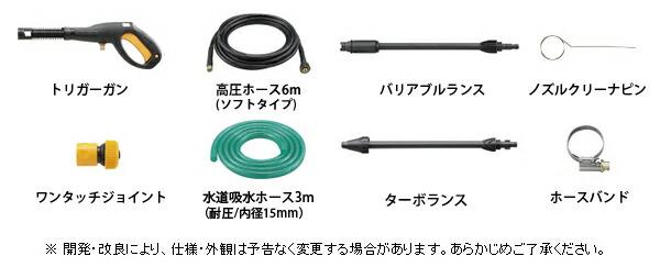 AJP-1520A 標準付属品画像