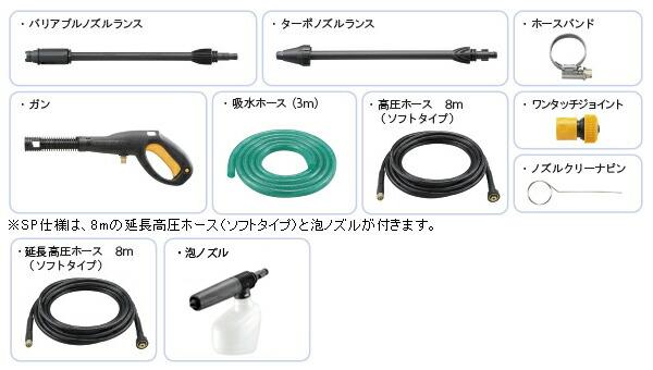 AJP-1620ASP 標準付属品画像