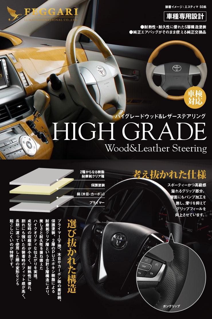 LUNAインターナショナルがお送りする普及モデル『ハイグレードウッド&レザーステアリング』