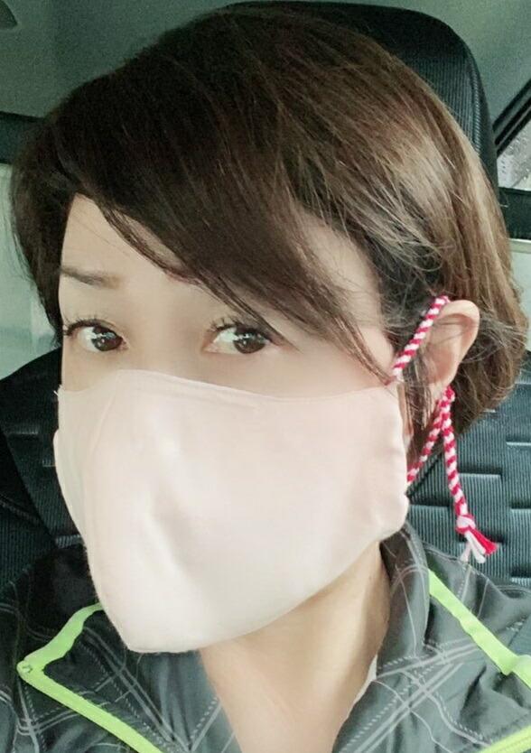 飛騨高山の組紐(組紐マスク 2枚入り) 君の名は の聖地 飛騨の職人の手作り 組紐 布 マスク。組紐がとてもカワイイです!組紐が耳にやさしいです!