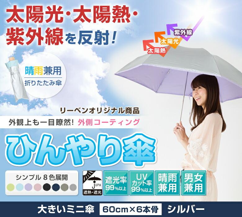 外側コーティングひんやり傘