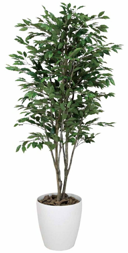 光触媒 光の楽園ベンジャミンツリー 1.6m【インテリアグリーン 人工観葉植物】