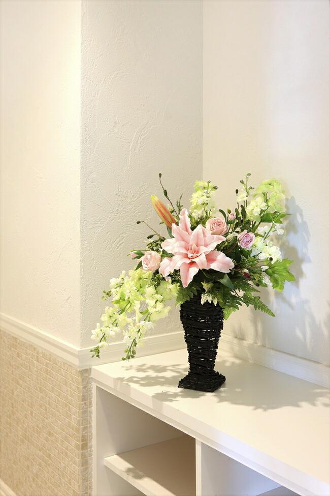 光の楽園光の楽園 フリルカサブランカ【アートフラワー 造花 】