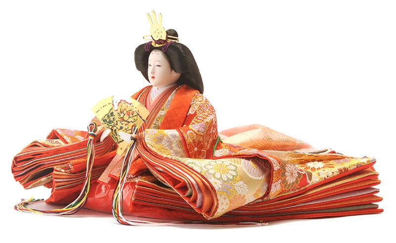 優美 赤塗り 御雛 雅なこころ 木製三段
