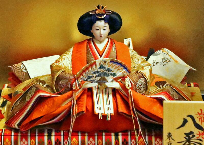 京都雛の会 平安弌峰作 帯地 八番親王 オリジナル頭