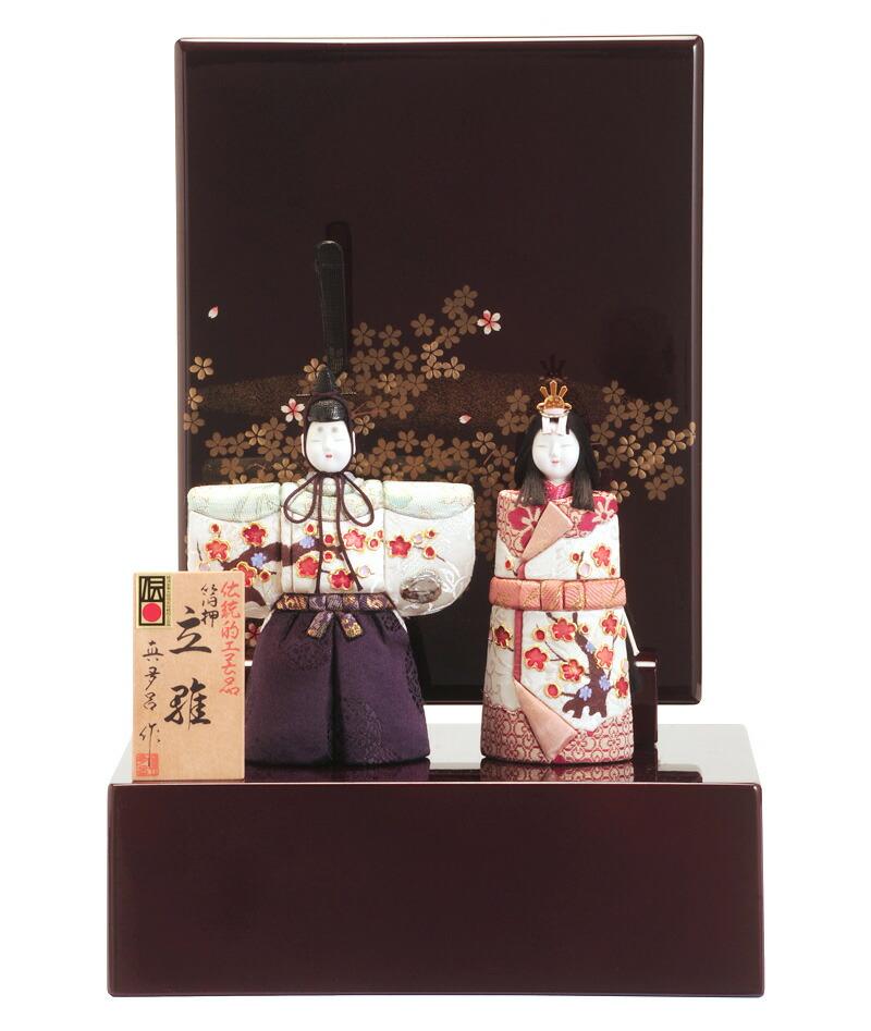 真多呂作 光琳立雛 箔押 伝統的工芸品
