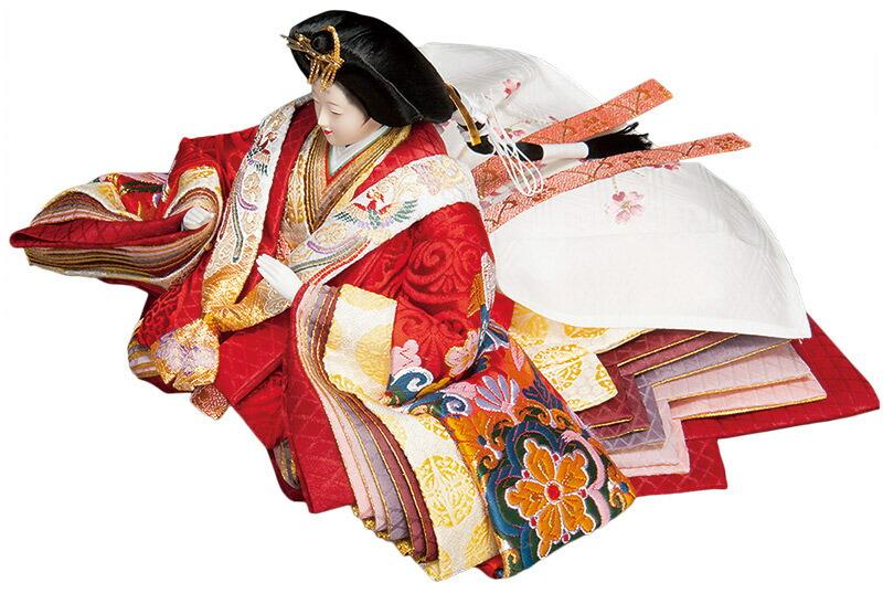 平安 金襴 三五親王 芥子官女揃 曙塗 金沢箔