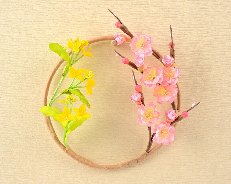 極上仕立 御雛 白衝立二段飾り 桃葉の花