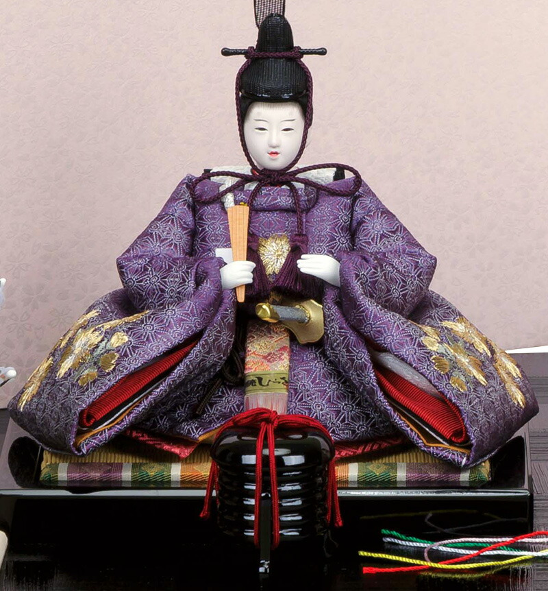 柴田家千代作 結 正絹 麻の葉に京刺繍桜