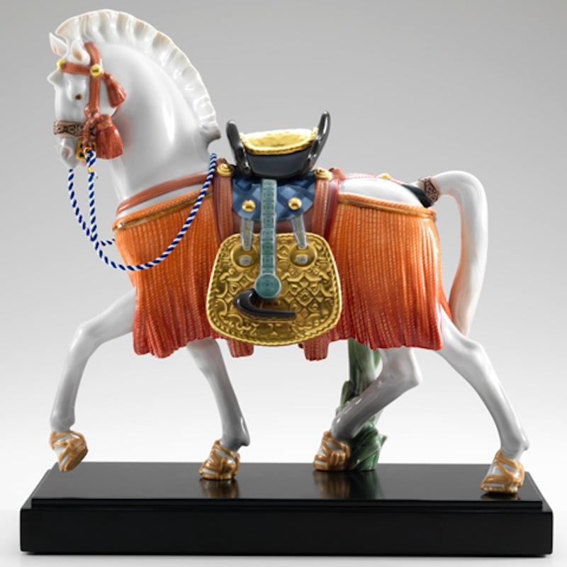 Lladro 磁器人形 希望の白馬 台座付 限定3500体
