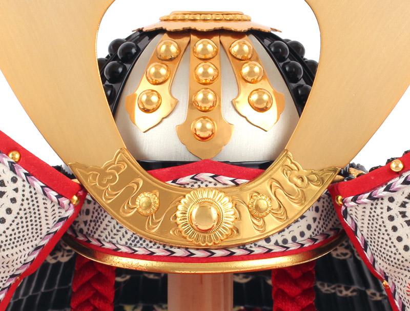 加藤一冑作 四分の一 小桜革 兜飾りセット