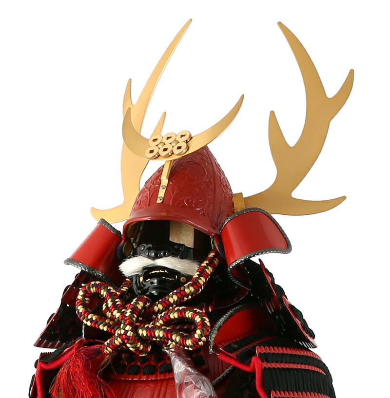 忠保作 南蛮甲冑 信濃之英雄 猩々緋塗り 手造り鎖手甲 極細小札 8号