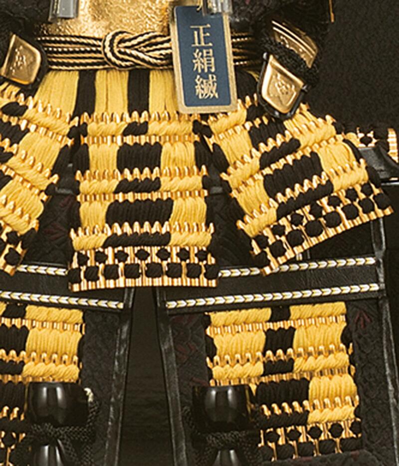 平安一甲作 名将鎧飾り 5号 彫金バック オルゴール付