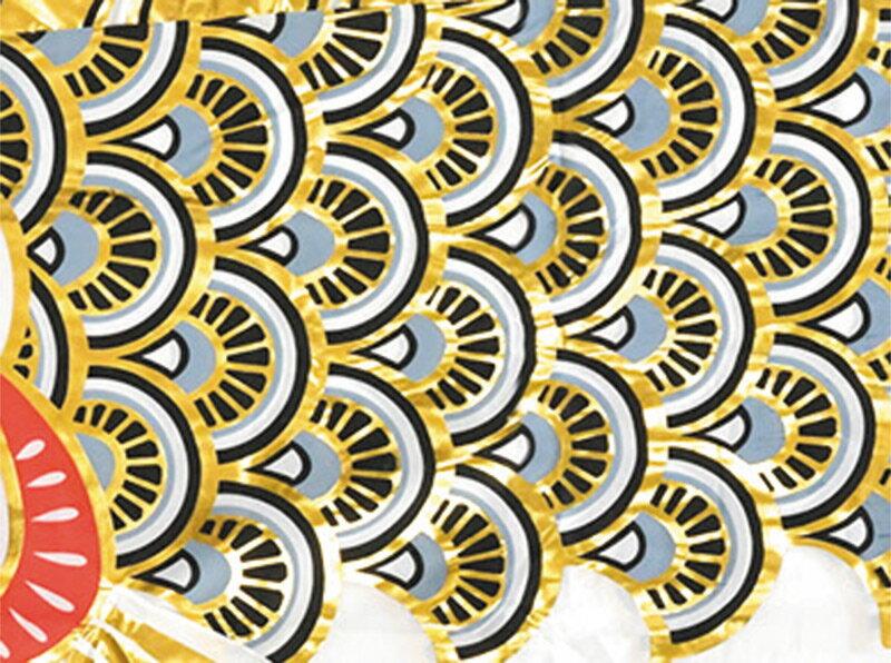 黄金鯉セット 五色吹流し ポリエステル鯉