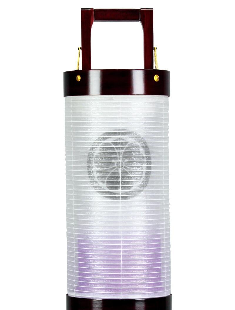 電気コード式LED 絹製 絹二重 組立不要 家紋入れ代込み