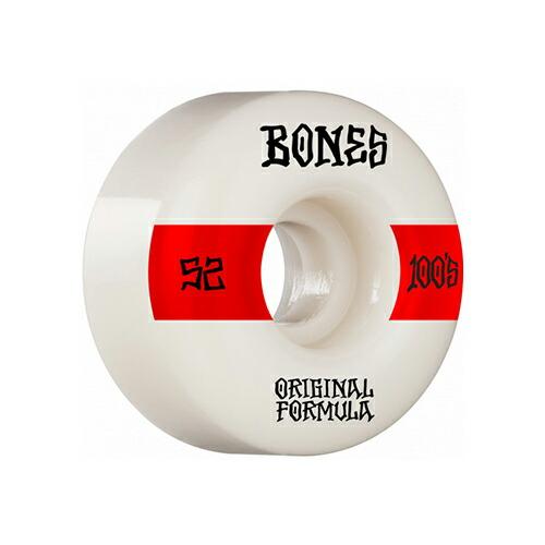 ボーンズ ウィール 52x34mm 100 BONES Wheels OG FORMULA #14 V4 WIDE ナチュラル ホワイト 4個セット