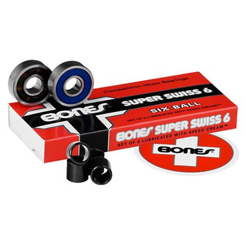 【ボーンズ ベアリング】Bones Super Swiss Six Bearings●スイス 6ボール 「スマートレター便対応」