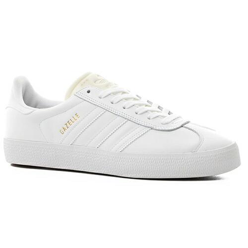 アディダス シューズ ADIDAS GAZELLE ADV SKATE SHOES ft white/gold metallic ガゼル スケートシューズ ホワイト/ゴールド オールレザー