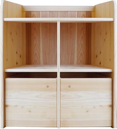 ランドセルラック収納無垢国産日本製ひのき棚