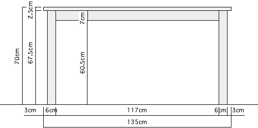 無垢Pテーブル+ライトチェアセット