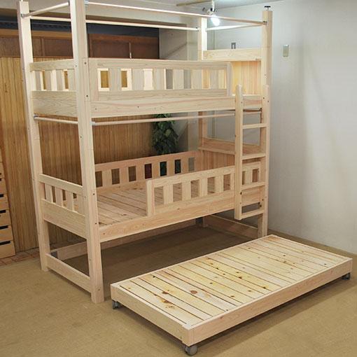 ひのき三段ベッド