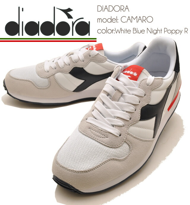 f5b8293699 Men's sneakers DIADORA Deer gong CAMARO Camaro WHITE/BLUE NIGHT/POPPY R  color turn 6110 ※2-4 days after after order is sent. suede