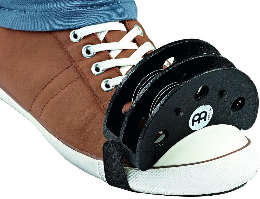 MEINL Percussion マイネル フットパーカッション Foot Tambourine FJS2S-BK[メール便発送、送料無料、代引不可][楽器] 02P03Dec16