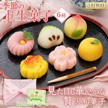 和菓子 高級 季節の上生菓子6種 送料無料