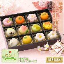 季節の上生菓子12種 送料無料
