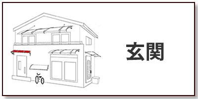 玄関の屋根