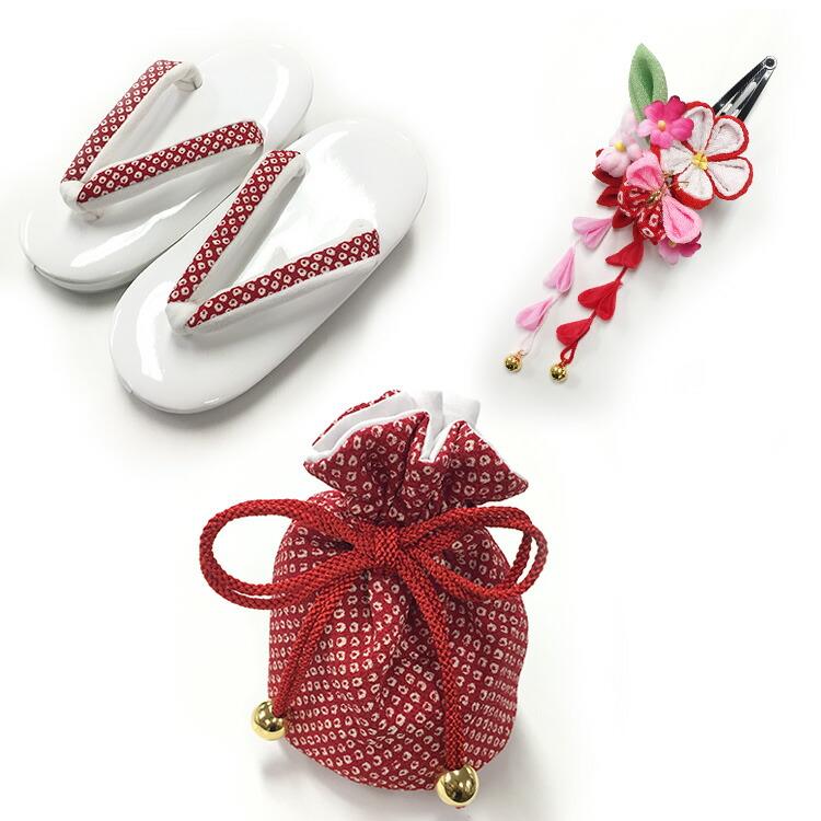 ◆ひよこ商店-七五三 三歳女の子 被布コート着物お祝い着セット