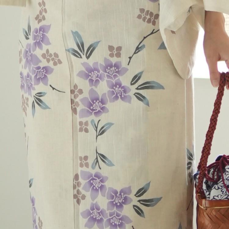 浴衣専門店ひよこ商店楽天-高級変わり織り浴衣3点セット-綿麻・麻混