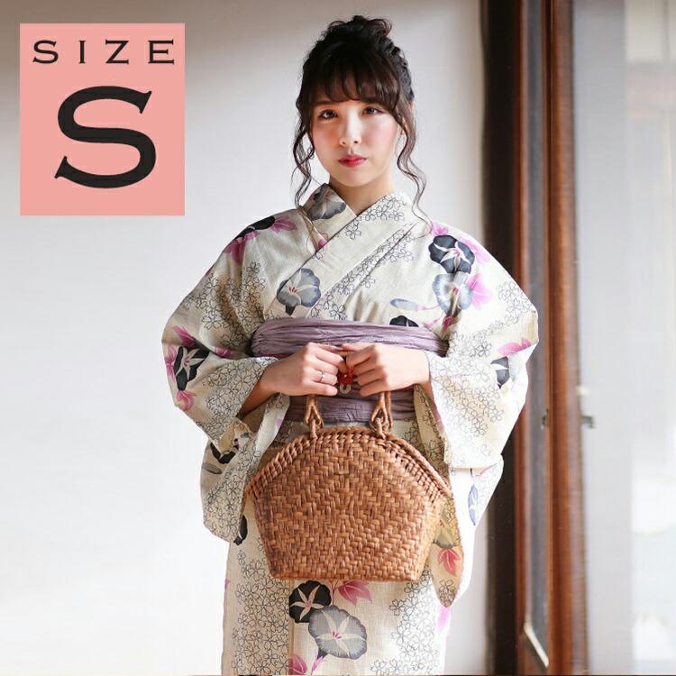 ひよこ商店-高級変わり織り浴衣3点セット-綿麻・麻混