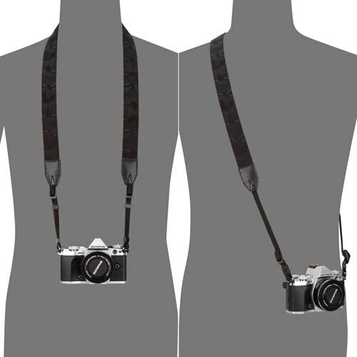 カメラストラップ ハクバ プラスシェル ジャガードカモストラップ 30 ブラック