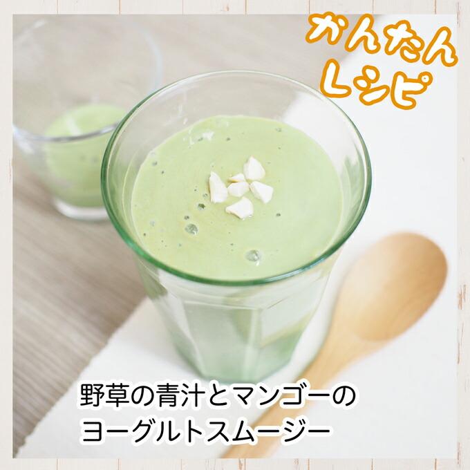 野草の青汁とマンゴーヨーグルトのスムージー