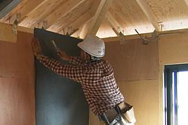 寝室の壁面施工例