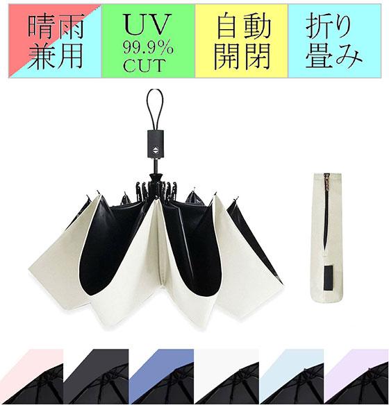 ZELDNER (ゼルドナー) 折りたたみ傘 軽量 自動開閉 男女兼用