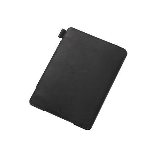 【ELECOM(エレコム)】 iPad Air 2用ソフトレザーカバー(4アングルタイプ) TB-A14PLF2BK メール便不可[▲][EL]