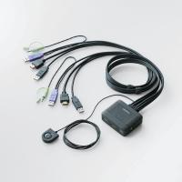 【ELECOM(エレコム)】 パソコン切替器/HDMI対応 KVM-HDHDU2 hobinavi [▲][EL]