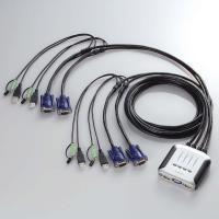 【ELECOM(エレコム)】 ケーブル一体型切替器(USB) KVM-KU4 hobinavi [▲][EL]